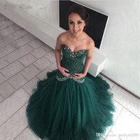 Vintage DArk Verde Mermiad Prom Dreses Com Colar Do Grão Até O Chão de Tule saia Formal Vestidos de Noite sul Africano