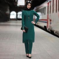 라마단 이드 아바야 터키 무슬림 히잡 드레스 카프 탄 두바이 설정 카프 탄 터키어 이슬람 의류 아프리카 드레스 여성 로파 정장의 경우