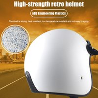 Neu Motorrad Helm Vintage-Atmungsfähig Leicht Open Face-Design für Männer Frauen Motorrad BN99 Fahrradhelm