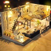 CUTEBEE DIY بيت الدمية الخشبية مصغرة دمية دمية منازل أثاث مجموعة ألعاب للأطفال هدايا عيد الميلاد TD32 Y200413