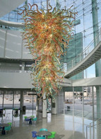 100% hecho a mano luz de Big soplado Arte Chihuly estilo Murano Lámpara moderna decoración de la cocina luz pendiente