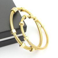 Модный бренд 2017 Последние 6 винтов браслет титановые стальные женские и женские пары нить влюбленность браслетов для женщин ювелирные изделия