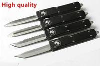 Offerta speciale Microtech Ultratech UTX-85 UTX85 UTX-70 UTX70 Coltello D2 Lama T6 Alluminio (CNC) Maniglia Halo V Coltelli da campeggio all'aperto Utensile EDC
