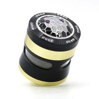집합 알루미늄 아연 합금 꽃가루 눌러 캐쳐 금속 분쇄기 담배를 담배 DHL 새로운 허브 그라인더 4 피스 50mm의 55mm에서 63mm