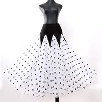 Özelleştirmek Polka Dot Balo Salonu Etek Balo Salonu Dans Etekler Kadınlar Için İspanyol Etek Waltz Elbise Elbise Dans Elbise