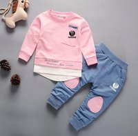 TRGU Kids Sets 1-5T Kids Cardigan Zipper Coats Pants 2 Pz / set Baby Sports Sets manica lunga Coat 4 Colori Kids Summer Suit