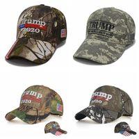 Trump bordado Sombreros 2020 hacer de Estados Unidos Gran Una vez más, Donald Trump gorras de béisbol de camuflaje Adultos Deportes sombrero al aire libre OOA6706