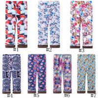 Automne Hiver Enfants Filles Legging Bébé Coton Chaud Crayon Pantalon Pour Enfants Fleur Imprimé Épaississement Pantalon Velvet Leggings GGA2649