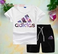 ADlDAS Little Kids Sets 2- 7T Childrens O- neck T- shirt Short ...