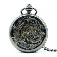 Luxury Mechanical Pocket Watch Steampunk Hollow Dragon Phoen...