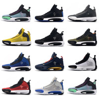 2020 New Jumpman XXXIV 34 Eclipse Blue Void Green White Blac...