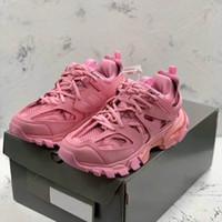 Новый 2020 моды в Париже 17fw трехместный трехместный s кроссовки обувь повседневный женщин розовый повседневный дизайнерские туфли размер 35-40