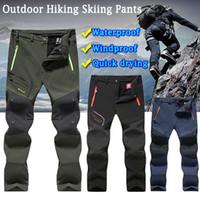 Caminhadas calças de inverno homens velo impermeável ao ar livre Trekking pesca macio shell calças acampam escalada de esqui camping