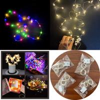 LED Parti Dekorasyon Işıklar Yeni Üç vitesli XD23530 ile Yanıp sönen Bakır Tel Işık Kek Çiçek Hediye Kutusu Pirinç Tahıl Lights
