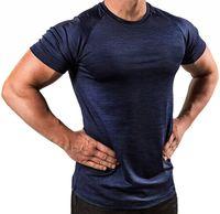 New 8 cores de secagem rápida fitness roupas masculinas respirável Sports executando treinamento de alta Elastic calças justas manga curta Sports Cothing