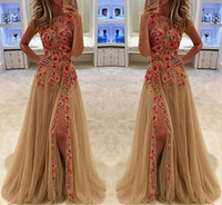 Charming Sleeveless Evening Dresses Floral Prom Dress Women ...