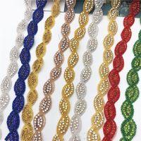 fer Sew or garniture strass appliques cristal perles de mariée sur pour la main décoration robe de mariée bricolage vêtement artisanal