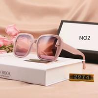 Summer Little Bee Gafas de sol de moda Gafas de sol Gafas Gafas Estilo 2974 UV400 5 Color Opción de alta calidad con caja