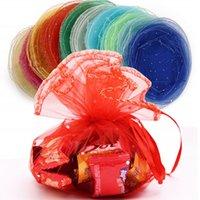 Geschenk Wrap 10 STÜCKE Runde transparente Organza Taschen Hochzeitskasten Verpackung Weihnachten Zeichnungsberechtigte Süßigkeiten Schokolade 6ZSH836838