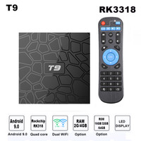 Android 9. 0 TV BOX Smart TV Box T9 Quad Core 4K Media Player...