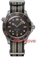 Moda lüks elmas 007 sınırlı editon Mens otomatik hareketi kadınlar tasarımcı usta izle saatler Paslanmaz Çelik Saatı 2020