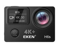 Yüksek Kaliteli EKEN H6S Spor Kamera 2.0 + 0.95 Çift Ekran Tam Modu ÇBS video 4K WIFI 170 Süper Mercek Suya Eylem Kameralar 5 adet DHL