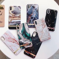 Green Luxury Marble Case For iPhone X XR XS Max 7 8 Plus Sof...