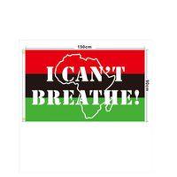 90x150cm SİYAH MADDE Afişler Siyah Protesto Banner Can not Breathe Bayrak Amerikan Parade Flags ZZA2241 200pcs LIVES