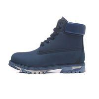 La venta caliente botas para mujer de los hombres niñas Triple Negro Camo del cuero del vaquero invierno botas de trabajo tobillo de la plataforma para hombre del tamaño de arranque 36-45 nieve