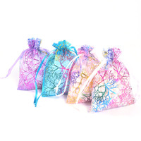 50pcs lot Sheer Coralline Organza Jewelry Pouch 7x9cm, 9x12cm...