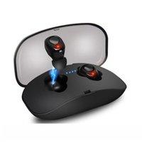 Bluetooth 5.0 drahtlose Kopfhörer-X18 TWS In-Ear-Kopfhörer freihändiger Kopfhörer Mini-Kopfhörer-Sport Earbuds Musik-Kopfhörer für Handys mit Mic