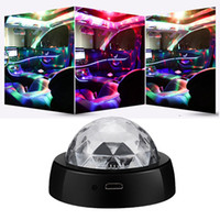 Mini DJ Disco Boule de cristal RGB LED USB protable Lights atmosphère lampe LED scène lampe flash automatique