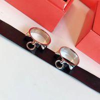 العلامة التجارية الساخنة نقية 925 الاسترليني للنساء قفل تصميم H الفضة مجوهرات الزفاف خواتم حزب فاخر C19041201