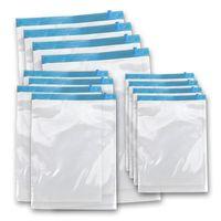 Borse sacchetto dell'organizzatore di corsa a vuoto di compressione di immagazzinaggio pieghevole del sacchetto della guarnizione di plastica trasparente 5 Misure Bisogno di pompaggio dell'aria