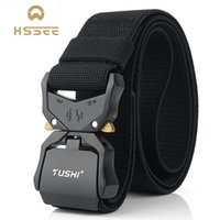 HSSEE 2020 New Elastic Belt Official Genuine Hard Metal Quick Release Buckle Men's Tactical Belt Men's Accessories Dropshipping