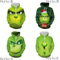 3D Hoodie Grüne Pelz-Monster Grinch Kapu