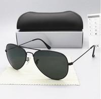 미국 주식 핫 판매 높은 품질 남성 여성 선글라스 Txrppr 운전 일 골드 금속 프레임 녹색 UV400의 58mm 렌즈는 브라운 가자 안경