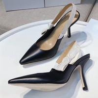 Hot Vente- talons hauts Spartiates en cuir femmes Sandales Designer luxe talon fine chaussures à talons hauts 10cm chaussures grande taille femme 42