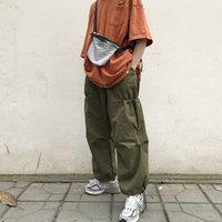 Pantaloni della tuta firmati da donna e da uomo Ins giapponese con stile di sostentamento originale tuta da strada con coulisse retrò Pantaloni papà larghi e larghi