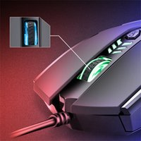 2400 DPI Wired Gaming Mouse Professionale 6 Pulsanti Cavo USB Regolabile LED Optical Gamer Mouse per Computer Tetiku berwayar L617