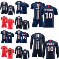 2019 Uniformi 2020 Player 7 Mbappe 10 NEYMAR JR Calcio pullover nero 19 Versione 20 calciatore Red Shirts Men calcio