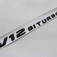 Новое прибытие 3D Letters герба Знак для AMG C63 E300L V8 BITURBO V12 BITURBO Fender Side Supercharge Turbo Car Styling наклейка
