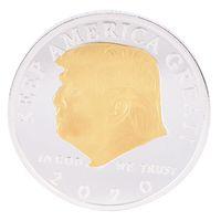 دونالد ترامب 2020 عملة أمريكا الرئيسة عملات تذكارية تبقي أمريكا الذهب العظمى الفضة شارة لوازم الانتخابات شحن مجاني