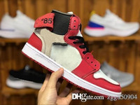 Nike Air Jordan 1 OFF White AJ1 OW 1 Top 3 OG NRG Mens Tênis De Basquete Ded Toe Chicago Banido Fragmento Azul Real UNC HOMEM PARA CASA New Love Cidade De Vôo Sneakers Sports