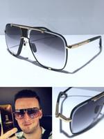 MACH الكلاسيكية خمسة النظارات الشمسية الرجال والنساء معدن خمر نمط أزياء في الهواء الطلق للجنسين إطار مربع الأشعة فوق البنفسجية 400 عدسة تأتي مع حالة أعلى جودة