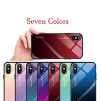 Luxus Hybrid Gradient gehärtetes Glas bunte Spiegel Schutzhülle zurück Fall für Samsung S8 S9 S10 PLIS Galaxy Note 8 9 TPU Shell