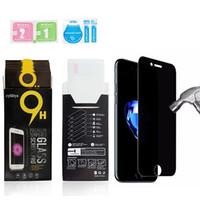 안티 스파이 강화 유리 아이폰 X XS MAX XR 8 7 6 플러스 개인 정보 보호 화면 삼성 S7 S6 소매 패키지