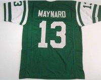 Erkekler Don Maynard # 13 Dikişli Dikişli RETRO JERSEY Tam nakış Jersey Boyut veya özel herhangi bir ad veya numara formayı-4XL S