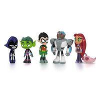 "Dc Comics Teen Titans фигурку 6-пак 2"" Робин Beast Boy Raven Cyborg Старфир Silkie Raven Teen Titans Косплей Y19051804"