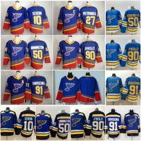 2019 Stanley Cup Champions Maglia St. Louis Blues 50 Binnington Schwartz 90 Ryan O'Reilly Colton Parayko Schenn 91 Vladimir hockey jersey